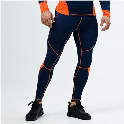 Picture of PANTS COMPRESSION NAVY/ORANGE